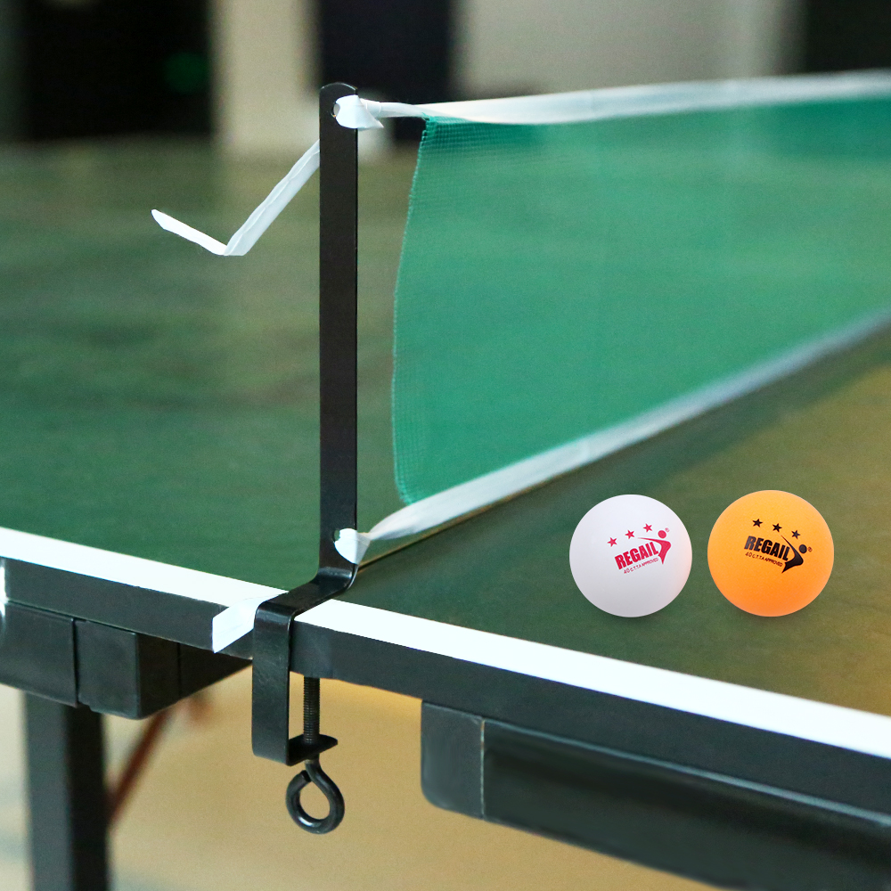 Table Tennis Set Table Tennis Net With 2 Ping Pong Balls And Posts Table Tennis Net Plastic Strong Mesh Net Portable Net Kit