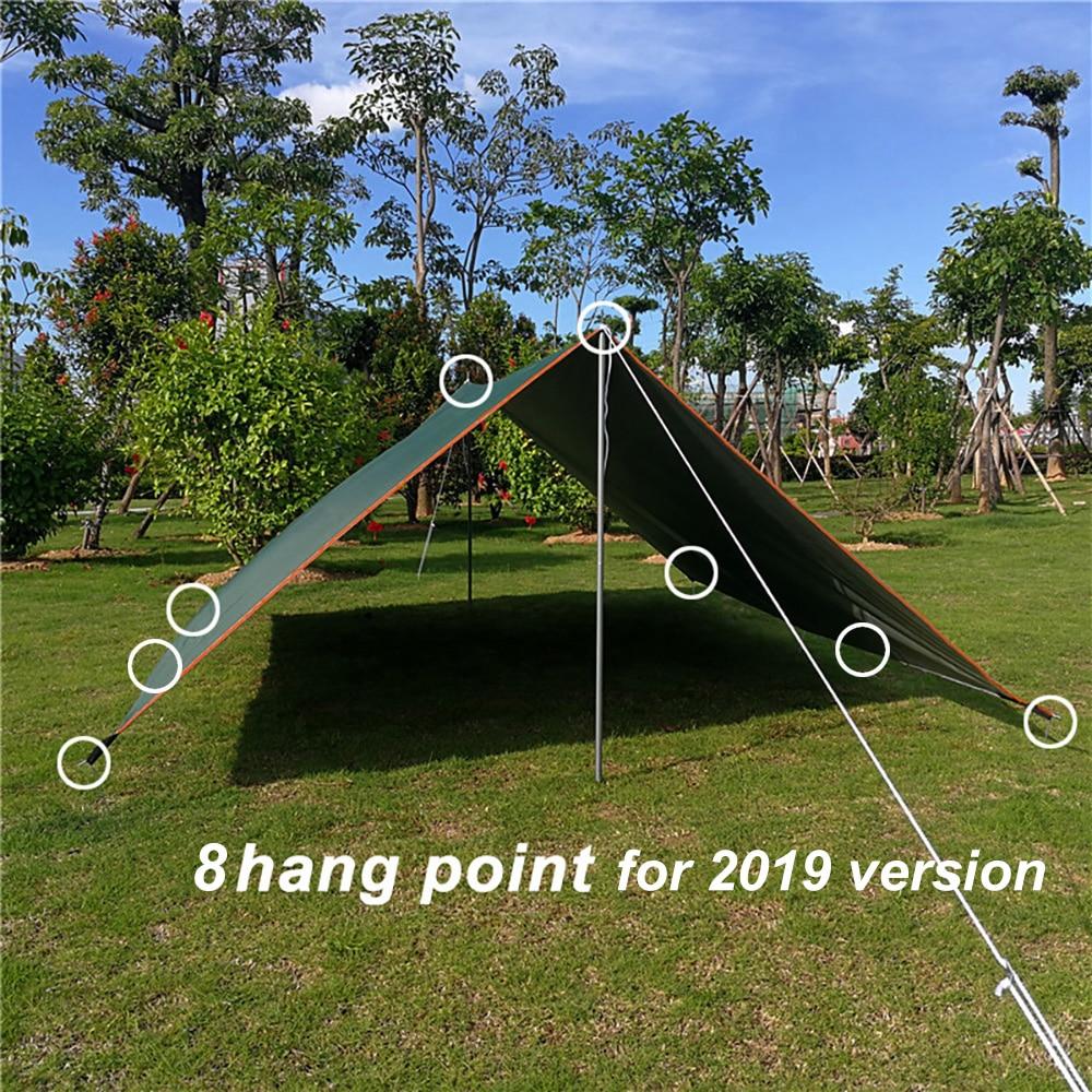 3m x 3m Tarp Tent Beach Hiking Garden Sun Shelter Canopy Rain Cover Picnic Mat