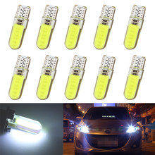 10PCS/lot T10 W5W LED car interior light 12 chips COB marker lamp 12V 194 501 Side Wedge parking bulb canbus auto car styling(China)