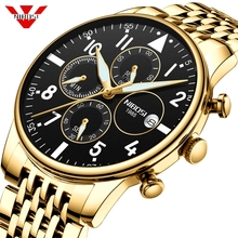 NIBOSI Mens Watches Military Luxury Brand Watch Mens Quartz Stainless Clock Fashion Chronograph Watch Man Relogio Masculino