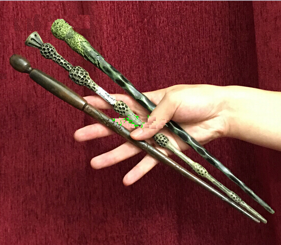 Retail 3pcs Genuine Super Quality Magic Wand Cosplay Prop Magic Wand Movie Toy Stick YH194 ...