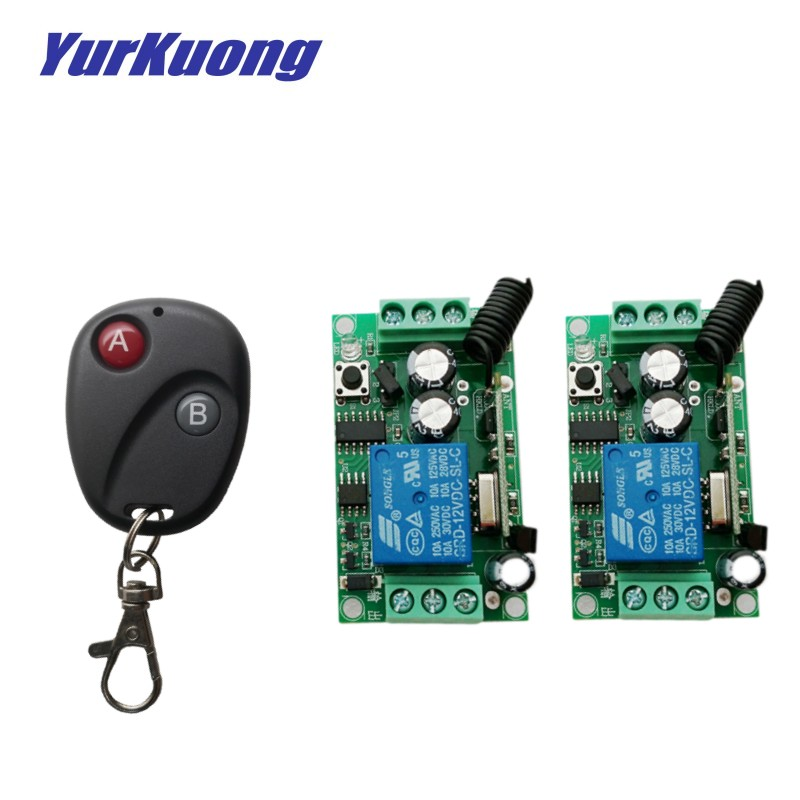 2 Switch 12v1ch 10a Lights & Lighting Switches Rapture 12v 1ch Rf Wireless Remote Control Switch System Non-latched/self-latched Wireless Switch 1controller