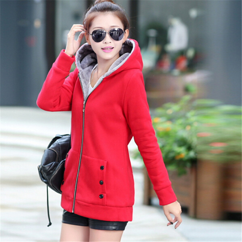 2016 Autumn Winter Women Hoodies Cotton Zip-up zipper Solid Full-Sleeve Hooded Casual Hoodies Sweatshirts Plus Size S-4XL.WH0210