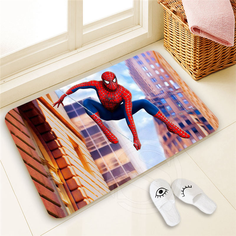 Personalized Custom spider man Doormat Home Decor 100% Polyester Pattern Door mat Floor Mat foot pad SQ00722-@H0679