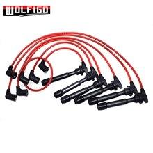 WOLFIGO Красный зажигания свечи зажигания провода набор для Tiburon Sonata Santa Fe 2.7L V6 09015 3878