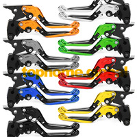 For Yamaha FZ6R 2009 2015 Foldable Extendable Brake Clutch Levers CNC Folding Extending Adjustable 2010 2011