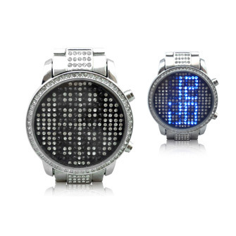 Phosphor the trend of fashion watches led electronic watch sheet metal disc diamond commercial men's watch