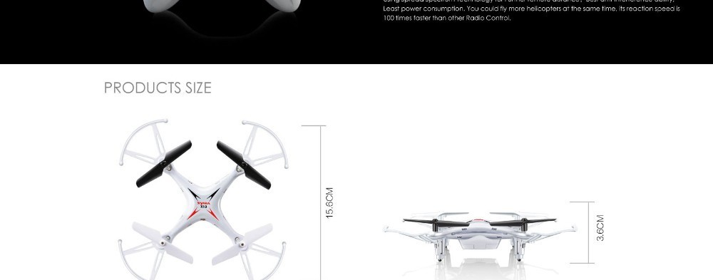13 2015 New Arrival Syma X13 RC Mini Drone Helicopter  2.4G 4CH 6-Axis Quadcopter With 3D Flips Remote Control Toy