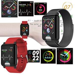 Image 5 - XGODY E04 ECG + PPG Bracelet intelligent moniteur de fréquence cardiaque Tracker de Fitness bande intelligente montre de tension artérielle bracelets pour IOS Android