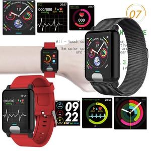 Image 5 - XGODY E04 ECG + PPG pulsera inteligente Monitor de ritmo cardíaco rastreador de ejercicios inteligente banda sangre presión reloj pulseras para IOS android
