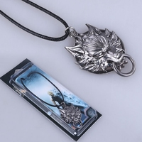 10 Pcs Lot Final Fantasy Logo Necklace Alloy Keychain Free Shipping
