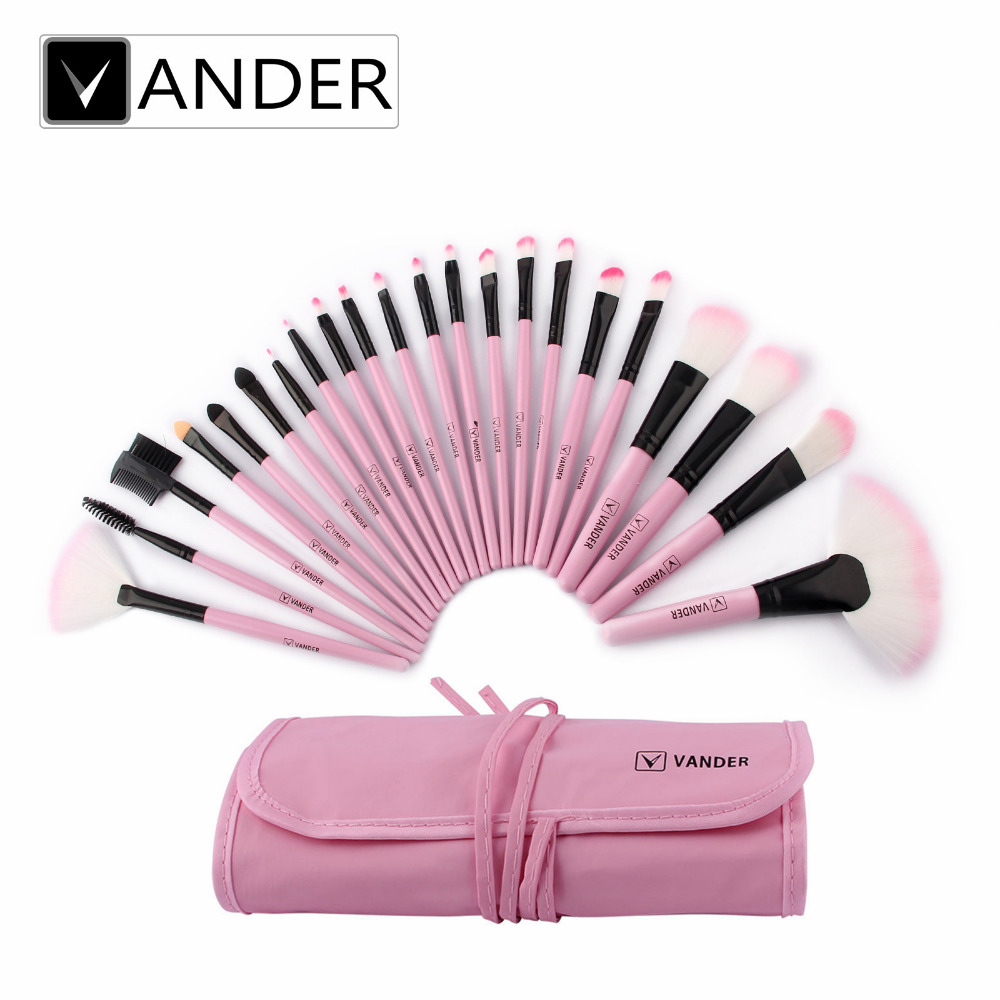 Vander 22 Pcs Profesional Lembut Kosmetik Makeup Brushes Set Tas Mata Pouch Make Up Eye Dompet Karakter Lucu Unik Kit Dengan Wanita Membuat Alat Pincel Maquiagem Hadiah