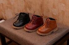 Boots Zipper Marten Shoes Warm Winter Shoes Ankle Non Slip Children Shoes Retro Boys Girls Shoes Kids Fashion Hot