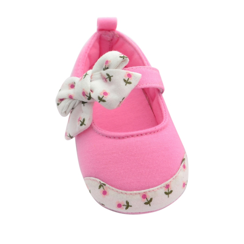 Cute Baby Girls Prewalkers Toddler Princess Baby Shoes Bowknot Firstwalker Infant Soft Bottom Cotton First Walkers 0-24M