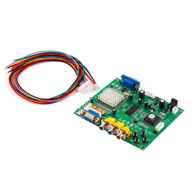 NEW Arcade Game RGB/CGA/EGA/YUV to VGA HD Video Converter Board HD9800/GBS8200