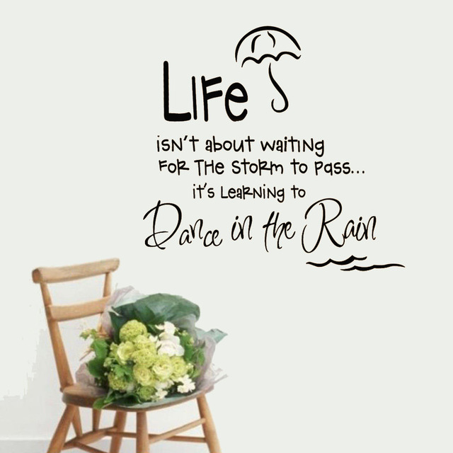 5x Storm Learning Life Dance In The Rain Say Quote Word Lettering