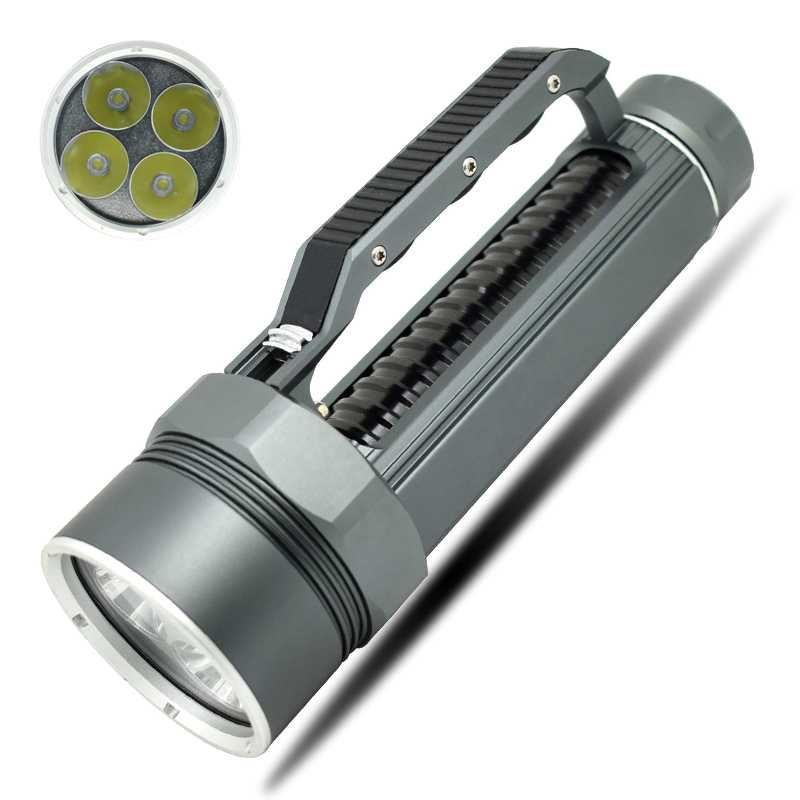 Hight quality XML-L2 10000 Lumens LED Flashlight Bright Scuba Silver diving light Flashlight Torch 4x XML L2 100m diver sitemap 13 xml