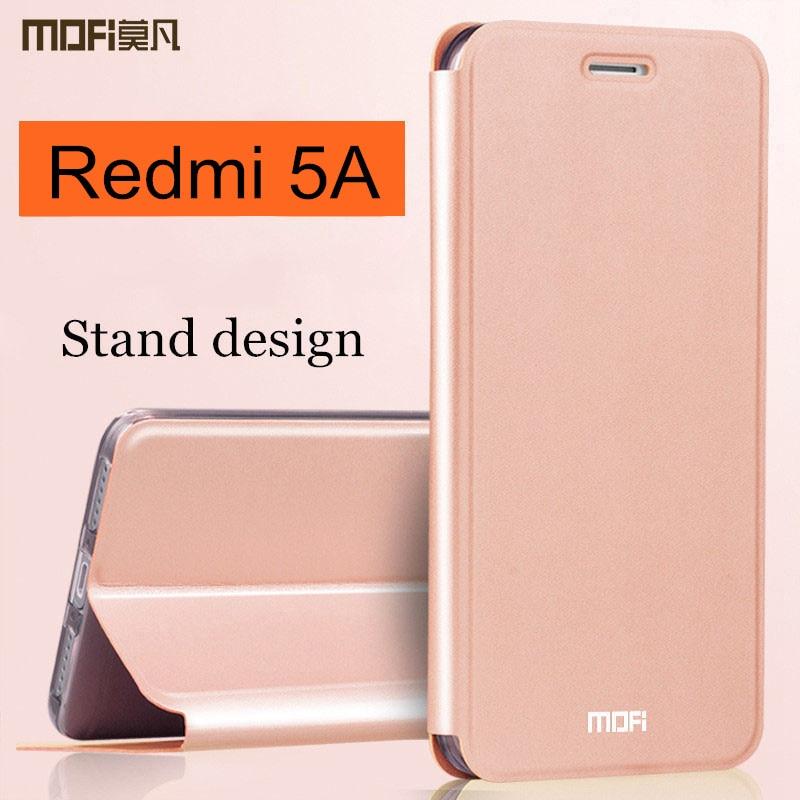 Xiaomi Redmi 5A Redmi5A virar capa de couro da tampa do caso completo proteger caso de telefone à prova de choque caso MOFi Redmi originais 5A coque 5.0