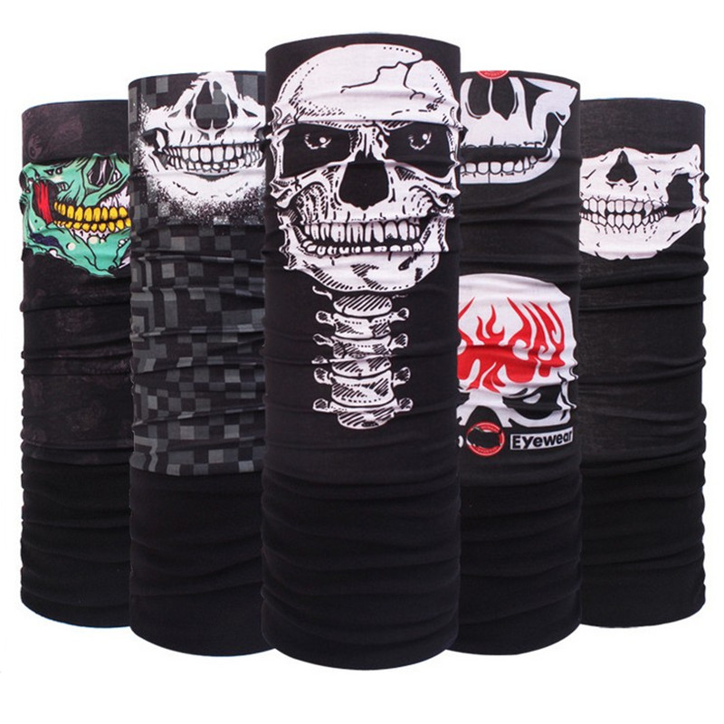 New Men Skull Mask Scarf  Bandana Autumn Winter Motorcycle Hip Hop Punk Sport CyclingWarmer Bandanas Headwear