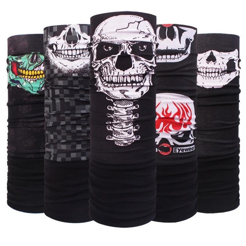 New Men Skull Mask Scarf  Bandana Autumn Winter Motorcycle Hip Hop Punk Sport CyclingWarmer Bandanas Headwear
