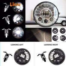 7″ LED Projection Daymaker Headlight Adaptive Led Headlight with DRL For Harley Davidson headlamp