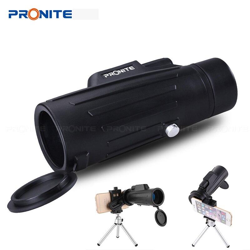 Профессиональный Монокуляр зум 10x42 телескоп HD бинокль ночного видения охотничьи прицелы Turizm Spyglass с держателем телефона/штативом-in Телескоп и бинокли from Орудия