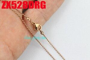"""Image 4 - רוז זהב צבע 1.2 מ""""מ כדור שרשרת עם לובסטר אבזם נירוסטה תכשיטי אופנה שרשרות חרוזים שרשרת 20 יחידות ZX528DRG"""