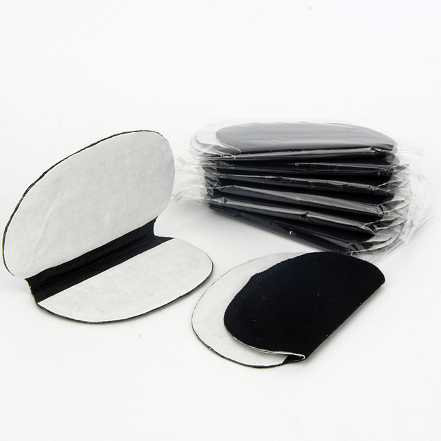40X ( 20Pairs ) Disposable Underarm Black Extra Large Sweat Pads Care Perspiration Pad Shield Absorbing Deodorant 3