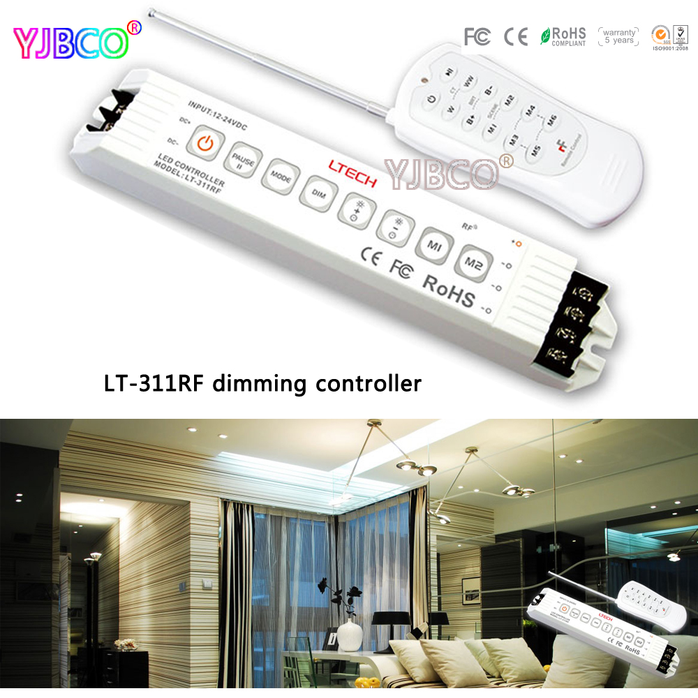 купить led dimmer LT-311RF;DC12-24V input;6A*3channel output LED Dimming Controller for single color led strip недорого