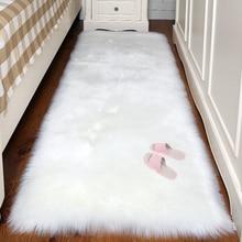 Австралийские шерстяные ковры для Гостиная Современный домашний декор Спальня меховой ковер коврик для гардероба кровать Одеяло толстые исследование коврики