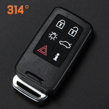 Six-button Black Smart Car Key Remote Control Replacement Shell Suit For Volvo S60/lxc60/s80/lv60/v40 Accessories