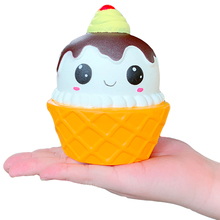 Jumbo Big Cone Ice Cream Cute Squishy Slow Rising Simulation Bread Scented Soft Squeeze Toy Stress Relief for Kid Xmas Gift jumbo totoro squishy cartoon doll simulation bread cake cream scented soft squeeze toys stress relief fun for kid birthday gift