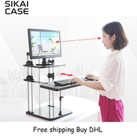 SIKAI Sit Stand Adjustable Laptop Table Ergonomic Stand Desk Riser Tablet PC Monitor Stand For Office By DHL Fast Shipping