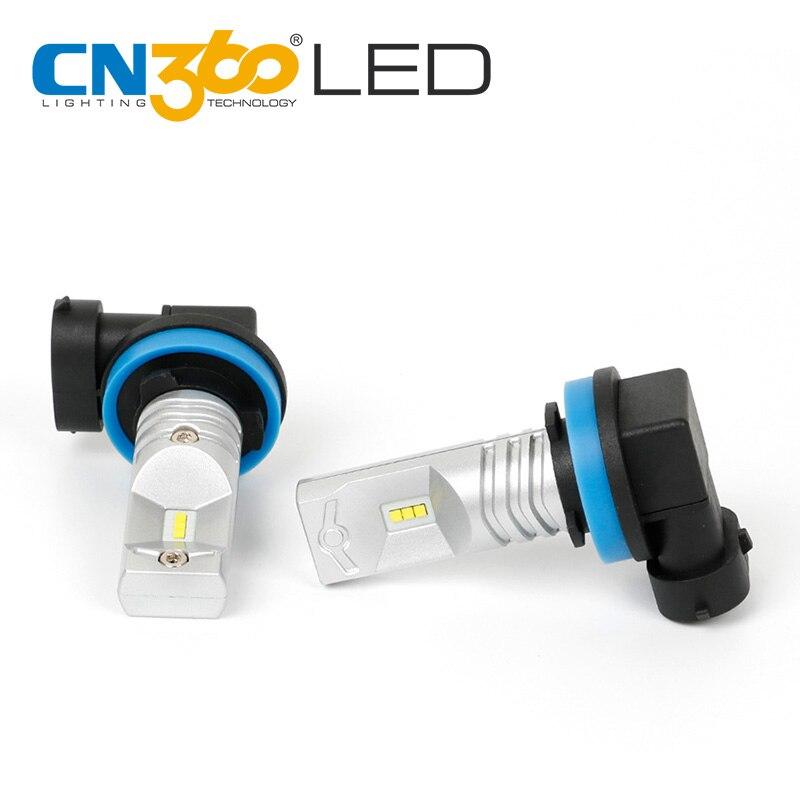 CN360 2PCS H11 760Lumens Super Bright 6000K White Car Auto LED Light Bulb Fog font b