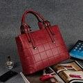 2016 New Korean Style Women Bags High Quality PU Leather Plaid Women Messenger Bag Retro Fashion Women Business Handbags