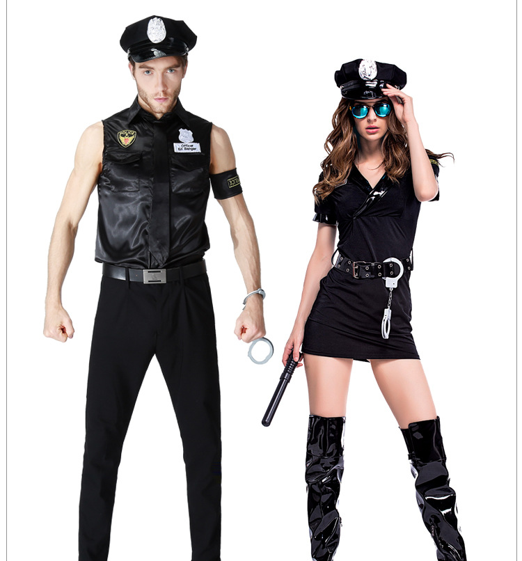 couples halloween masquerade costume police game uniforms role playing men women outfits cosplay fancy clothes - Masquerade Costumes Halloween