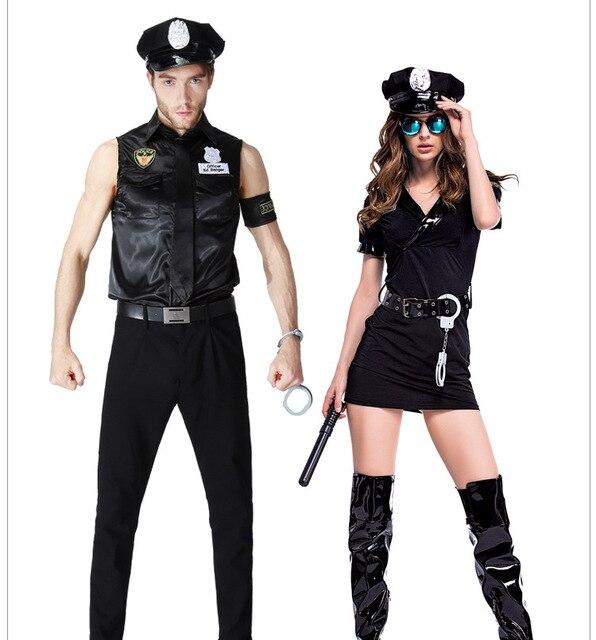Paare Halloween Maskerade Kostüm Polizei Spiel Uniformen ...