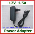 50pcs DHL 12V 1.5A 18W Charger Power Supply Adapter for Acer Iconia Tab A510 A700 A701 tablet pc