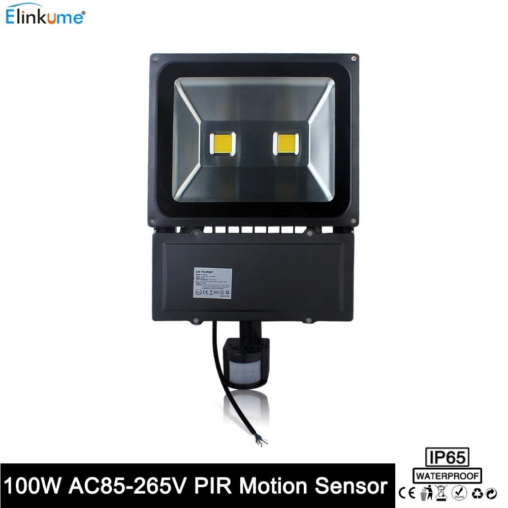 ФОТО LED Flood Light with PIR Motion Sensor Waterproof IP65 Outdoor 50W 100W 110V-220V Garden Refletor Spotlight led Floodlight