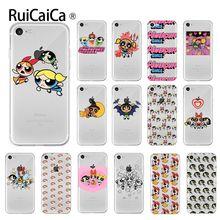Ruicaica cute The Powerpuff Girls Transparent TPU Soft Phone Cover for Apple iPhone 8 7 6 6S Plus X XS MAX 5 5S SE XR Cellphones