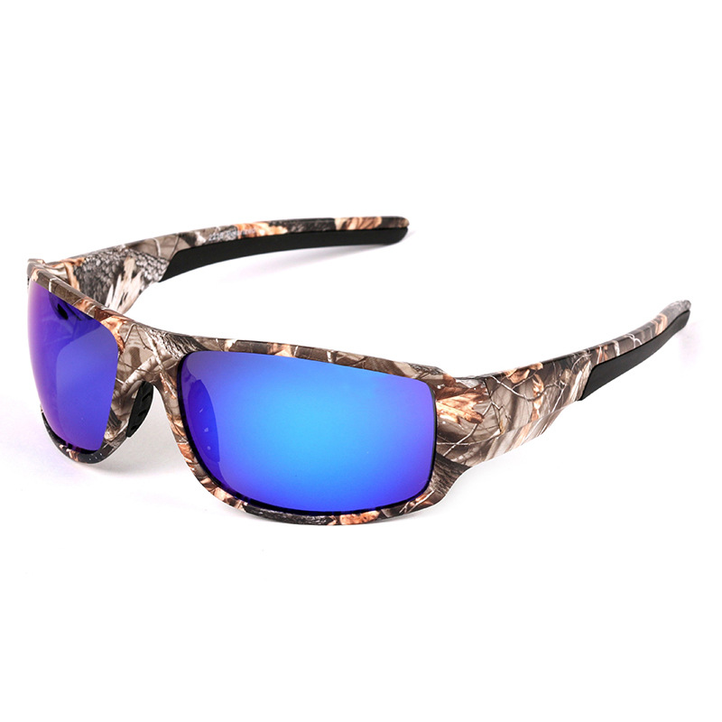 Men Outdoor Camouflage Frame Polarized Sunglasses Sports Camo Fishing Eyewear Cycling Bike Goggles Camping Hiking Sunglasses hot sale outdoor sports bicycle eyewear al mg polarized light men s new cycling sunglasses