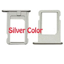 Hot sell 50pcs/lot 100% NEW Original Sim Card Slot Tray Holder for iPhone 5s Grey or white or gold Color freeshipping