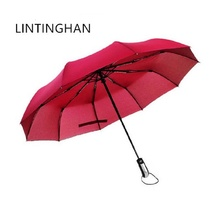 New boutique high-end business casual umbrellas Parasols Stainless steel ten bones 105 cm increase LIN TING HAN