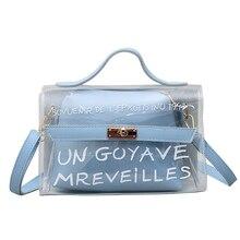2019 womens transparent bag PVC jelly color luxury small handbag Messenger female shoulder