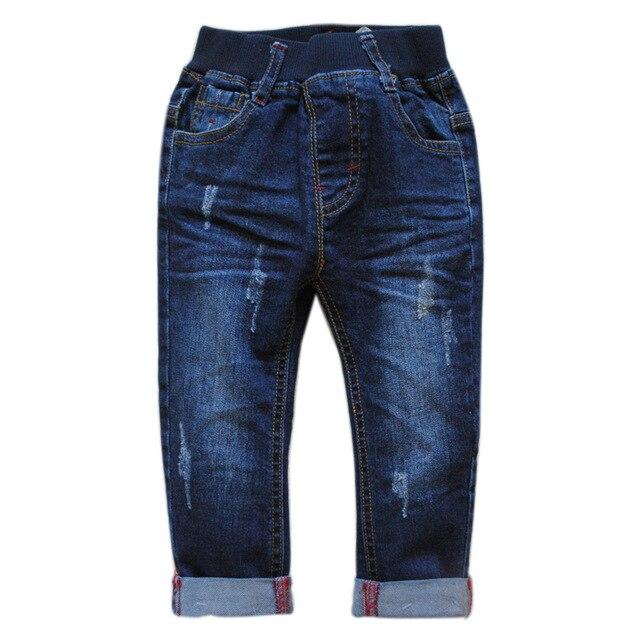 6001 0-4 мягкие джинсы мальчик джинсы девочки джинсы ребенок джинсы брюки дети брюки темно-синий очень приятно унисекс дети повернуть ups