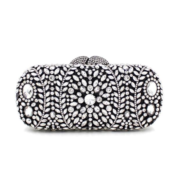 Pour Noir Mode Mariage Diamants Bourse De Portefeuilles Mariée À Cristal En Femmes Main Cadeaux Soirée Luxe Sac Dames Plein D'embrayage Sacs thsQrxdC