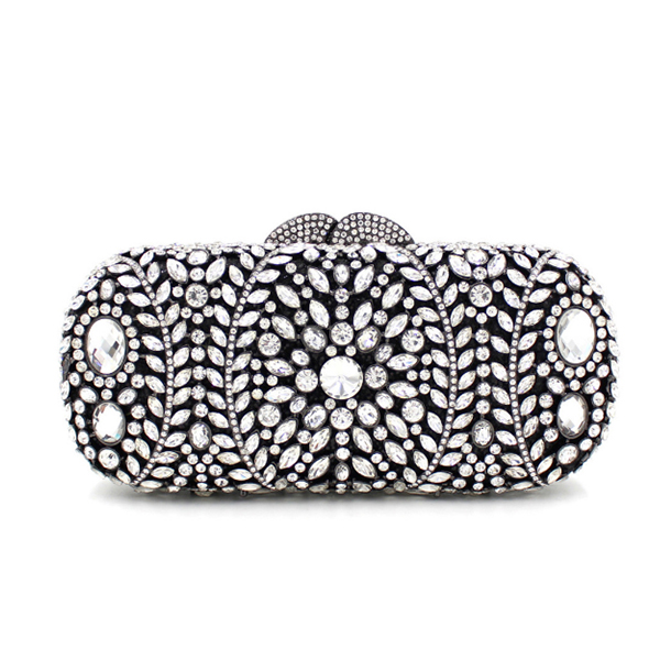Luxury Crystal black Evening Bag Fashion full Diamond Clutch Soiree Purse Women Wedding Bride Handbags wallets for ladies gifts luxury crystal clutch handbag women evening bag wedding party purses banquet