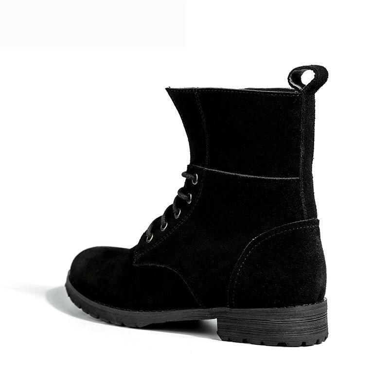 Schwarz Schuhe Mode up Stil Schwarzes Top Mycolen Leder Marke Hohe Frau Stiefel Neue Winter Casual Knöchel Design Klassische Qualität Spitze 7IwYwS0q