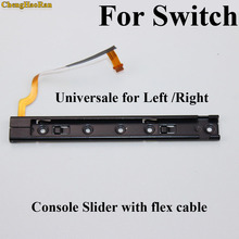 New Original Right Left Slider With Flex Cable For NS Switch Handle fixed Charging card slot Repair parts for NS Console L & R