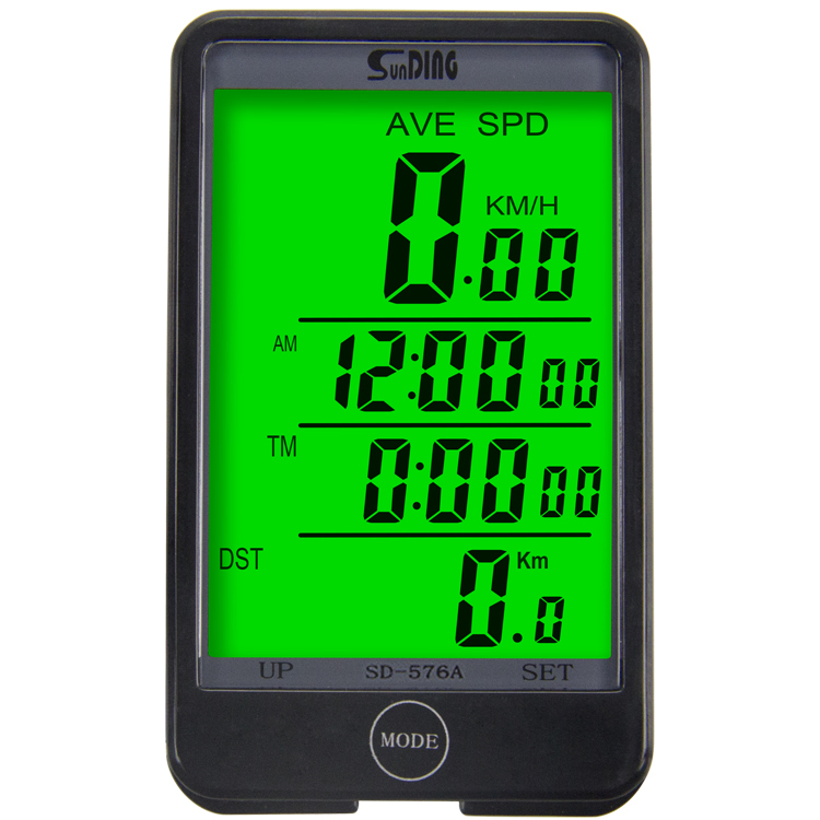 Sunding SD 576A Waterproof Auto Bike Computer Light Mode Touch Wired Bicycle Computer Cycling Speedometer with